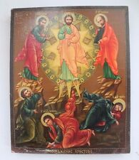 RUSSIAN ORTHODOX TEMPERA PAINTED ICON: Jesus Christ Pantocrator