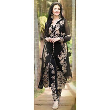 Anarkali Black Salwar Kameez Suit Indian Pakistani Designer Bollywood Party Suit