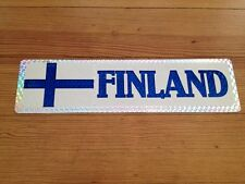 "Vintage Finland Bumper Sticker Flag 11 1/2"" by 3"" Car Window Nice"
