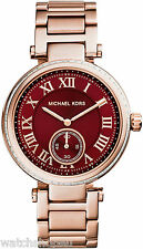 NEW MICHAEL KORS MK6086 LADIES ROSE GOLD SKYLAR WATCH - 2 YEAR WARRANTY