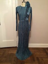 MARY McFADDEN Maxi Gown Fortuny Pleated