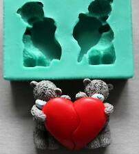 Silicone Mould Love Bears Sugarcraft Cake Decorating Fondant / fimo MOLD