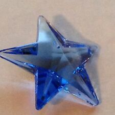 Huge 50mm Austrian Crystal Star Prism Suncatcher in Sapphire Blue Awesome!