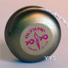 Vintage Collectible National Olympic Wooden Yo-Yo - Gold