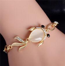 Opal Austrian Crystal 18K gold filled Lovely Fish Shape For Girls Women Bracelet