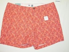 OLD NAVY NEW Womens Pink Print Casual Shorts Size 14