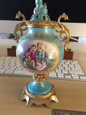 Sevres 1753 Hand Painted French Porcelain Urn -Signed