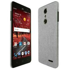 Skinomi Brushed Aluminum Skin+Clear Screen Protector for ZTE Grand X 4