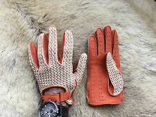 Driving Leather Gloves Crochet and Deerskin Leather 2016 Modell All size's Men