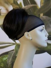"BLACK/DARK BROWN "" BEEHIVE "" BUN HAIR PIECE UPDO  EXTENSION #2 UK SELLER"