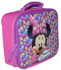 DISNEY Minnie Mouse School Kids Girls INSULATED TOTE LUNCH BAG BOX NWT