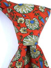 Atkinsons of Ireland 100% Silk Tie - Red Flower Design