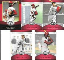 (12) TOPPS TRIPLE PLAY SERIAL # CARDS,   ST.LOUIS CARDINALS  GIBSON, BROCK, DEAN