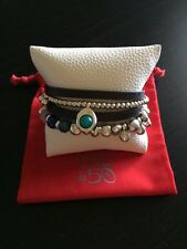 New Uno De 50 Multi Strand leather and Beads Bracelet - Gorgeous !!