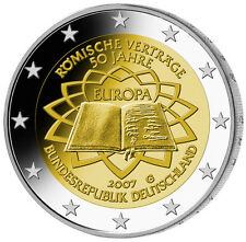 Germany 2 € EURO Commemorative Coin 2007 UNC 50y of Treaty of Rome Mintmark D