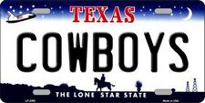 PLAQUE DE VOITURE AMERICAINE-TEXAS COWBOYS /2- NEUVE  DECORATION USA/ BIKER