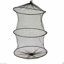 Crab Fish Crawdad Foldable Fishing Gear Trap Keep Net River Lake Black