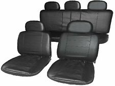 Full Black Leather Look Car Seat Covers for BMW E39 5 series 96-03 SC19