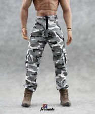 "*1/6 Scale Military Wt w bk Camouflage Pants Army Combat Pants F 12"" Doll Figure"