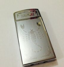 Cool Scorpion Style Butane Gas Cigarette Windproof Lighter Silver