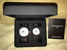 Emporio Armani Pair Watch Model Number: AR-9027M (Male) and AR-9027L (Female)