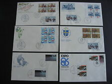 CANADA 6 FDCs with extra stamps and Peggy's cove cancels, quite interesting!