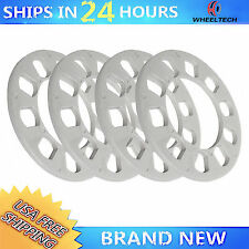 "4 pcs 1/4"" 5 Lug fit PCD 5X108 5X110 5X112 5X114.3 5X120 Universal Wheel Spacers"