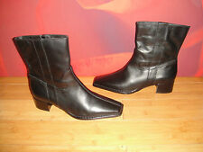 SUPERB EMOTION CHARLIE BLACK LEATHER ANKLE BOOTS  EU 41 *21*
