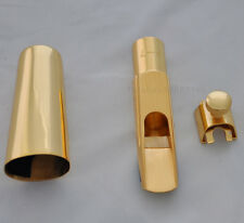 Top new Gold plated Alto Saxophone Mouthpiece Metal Brass metal size F7