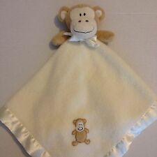 Blankets And Beyond Monkey Security Blanket Cream Tan Brown Baby Lovey Plush Toy
