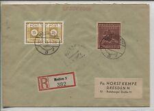 Lokal Meißen 38 a B und ZF auf R-Brief nach Dresden BPP-geprüft (B05124)