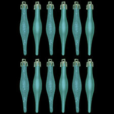 Pack of 12 Turquoise Mini Droplet Bauble Pendants Christmas Tree Decorations