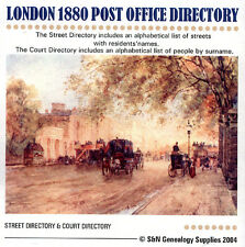 London 1880 Kelly's Post Office Directory
