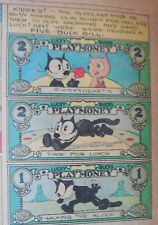 Felix the Cat Sunday by Pat Sullivan, Otto Mesmer from 8/28/1932 Play Money !