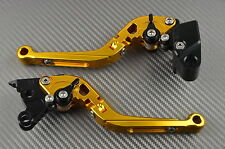 Levier levers flip-up foldable repliable Gold Or Suzuki GSXR 1000 K7 K8	2007-08