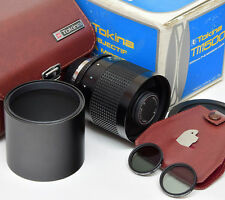 PENTAX PK Tokina 500mm F8 Mirror + Case + Filters ===Mint===