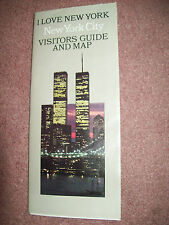 I Love New York City Visitors Guide & Map - World Trade Center on Cover 1989