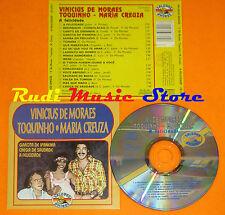 CD VINICIUS DE MORAES TOQUINHO MARIA CREUZA A felicidade 1992italy (Xs5)lp mc