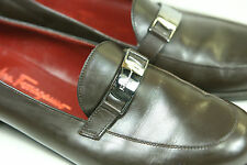 Women's Brown Leather Salvatore Ferragamo Brown Leather Loafers 7.5B Italy