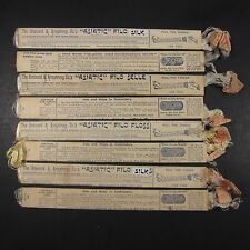 Asiatic Filo Selle Silk Embroidery Floss Antique Lot of 8 Packages Pastel Skeins