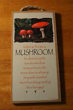 ADVICE FROM A MUSHROOM - BE A FUN-GUY - Rustic Lodge Cabin Sign Home Decor NEW