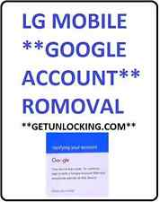 ANY LG * GMAIL GOOGLE ACCOUNT * ANY LG REMOVAL IN FEW SECONDS