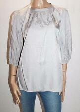 ESPRIT Brand Silver Silky 3/4 Sleeve Blouse Top Size 8-XS BNWT #SK01