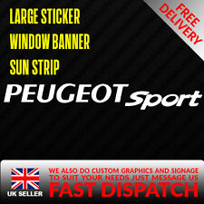 PEUGEOT SPORT PUG Sticker Badge for Sun strip Vinyl Decal Banner Sponsor Visor