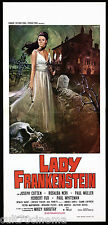 LADY FRANKENSTEIN (TIPO A) LOCANDINA CINEMA MOSTRI HORROR 1970 PLAYBILL POSTER