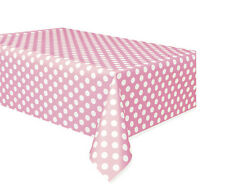LOVELY PINK POLKA DOTS PLASTIC TABLE COVER ~ Birthday Party Supplies Decorations