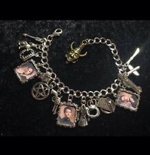 Silver Plated Charm Bracelet With Charms Supernatural Dean Sam Castiel God