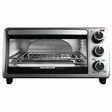 BLACK+DECKER TO1303SB 4-Slice Toaster Oven, Silver New