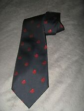 Hong Kong Tourist Association Aqua Luna Red Sailboat Vintage 1970s Wide Neck Tie