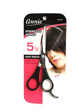 ANNIE STAINLESS STEEL HAIR SHEARS SCISSORS WITH FINGER REST (3 AVAILABLE SIZES)
